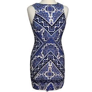 OASIS Dress Sleeveless  Mini Mandala Zipper